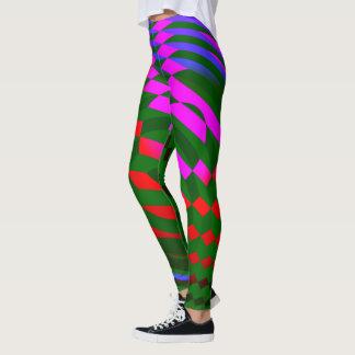 Modern Abstract Geometric Pattern Leggings