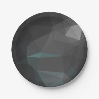 Modern Abstract Geometric Pattern - Moon Side Paper Plate