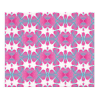 Modern abstract geometrical pink teal star pattern photo print