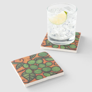 Modern Abstract Grapes Stone Coaster