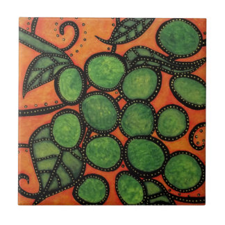 Modern Abstract Grapes Tile