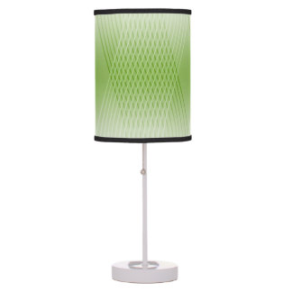 Modern Abstract Green Lines Desk Lamps
