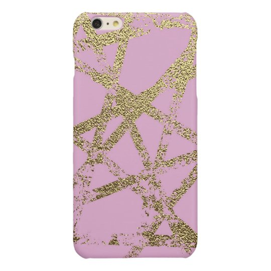 Modern,abstract,hand painted, gold lines, pink,dec
