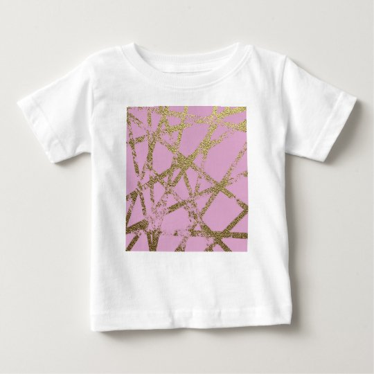 Modern,abstract,hand painted, gold lines, pink,dec baby T-Shirt