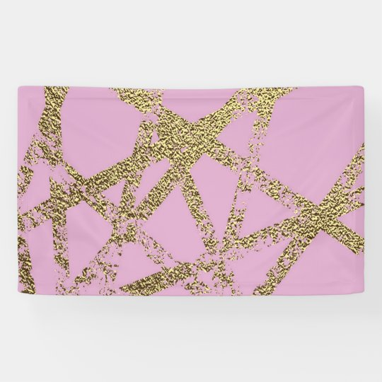 Modern,abstract,hand painted, gold lines, pink,dec banner