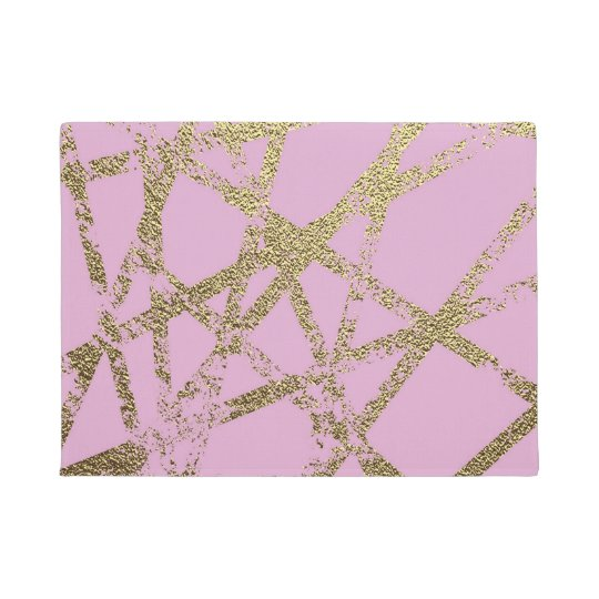 Modern,abstract,hand painted, gold lines, pink,dec doormat