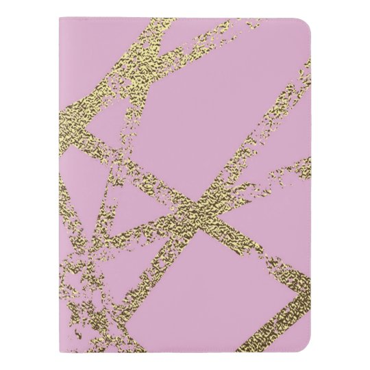 Modern,abstract,hand painted, gold lines, pink,dec extra large moleskine notebook