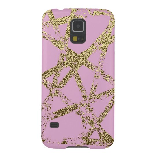 Modern,abstract,hand painted, gold lines, pink,dec galaxy s5 cases