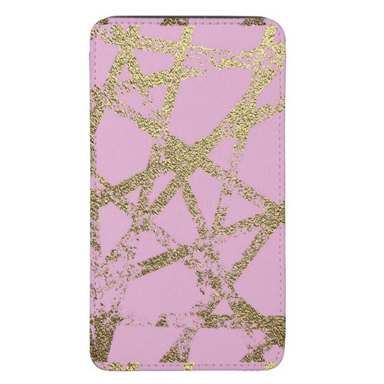 Modern,abstract,hand painted, gold lines, pink,dec galaxy s5 pouch