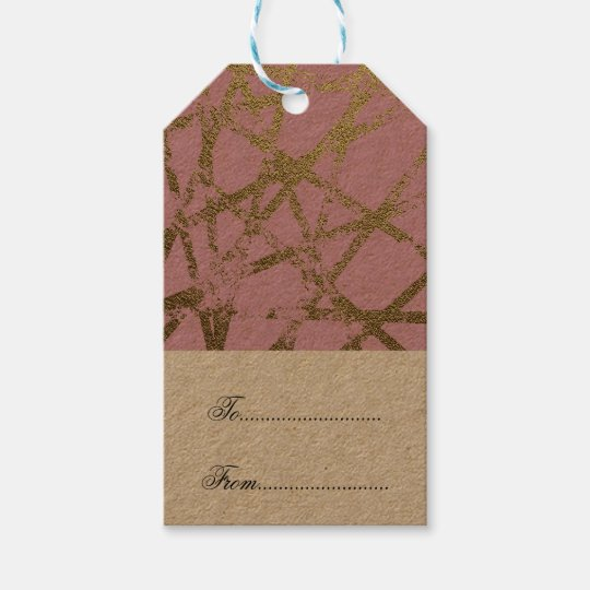 Modern,abstract,hand painted, gold lines, pink,dec gift tags