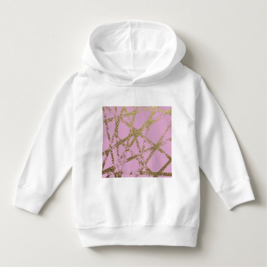 Modern,abstract,hand painted, gold lines, pink,dec hoodie