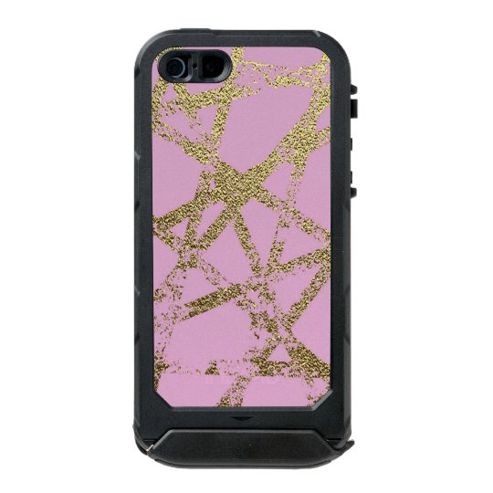 Modern,abstract,hand painted, gold lines, pink,dec incipio ATLAS ID™ iPhone 5 case