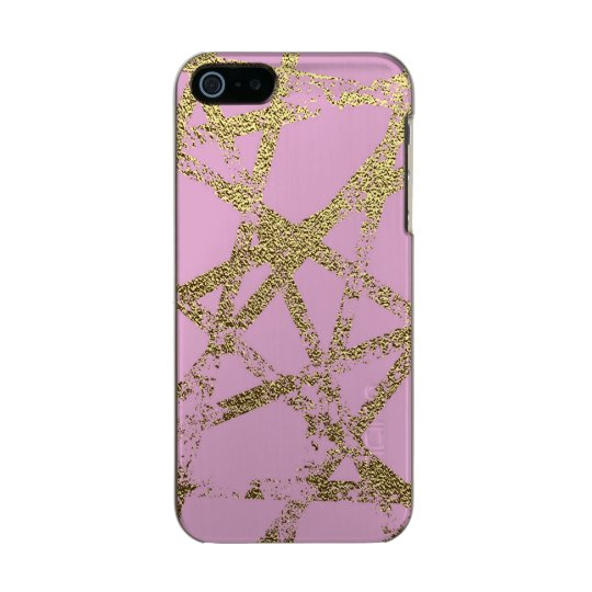 Modern,abstract,hand painted, gold lines, pink,dec incipio feather® shine iPhone 5 case
