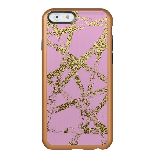 Modern,abstract,hand painted, gold lines, pink,dec incipio feather® shine iPhone 6 case
