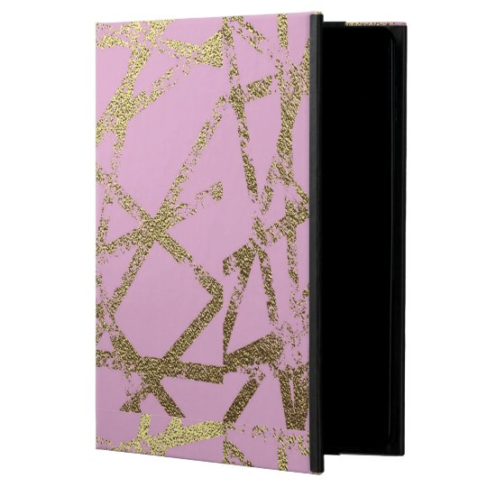 Modern,abstract,hand painted, gold lines, pink,dec iPad air cover