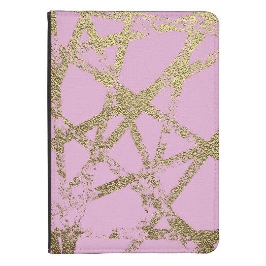 Modern,abstract,hand painted, gold lines, pink,dec kindle 4 cover