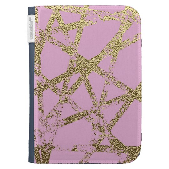 Modern,abstract,hand painted, gold lines, pink,dec kindle cover