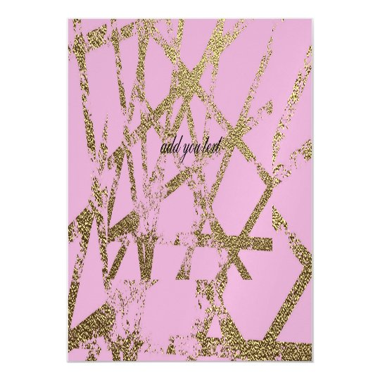 Modern,abstract,hand painted, gold lines, pink,dec magnetic card