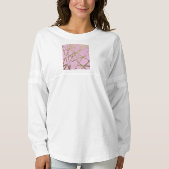 Modern,abstract,hand painted, gold lines, pink,dec spirit jersey
