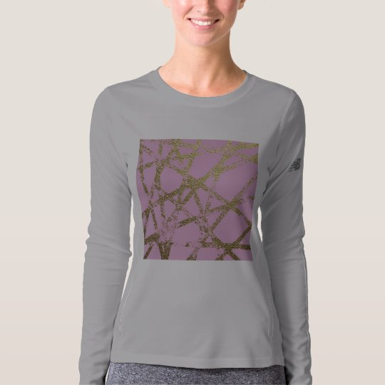 Modern,abstract,hand painted, gold lines, pink,dec t-shirt