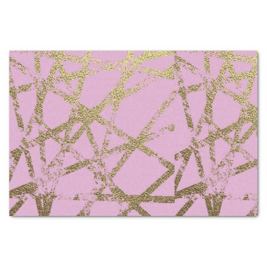 Modern,abstract,hand painted, gold lines, pink,dec tissue paper