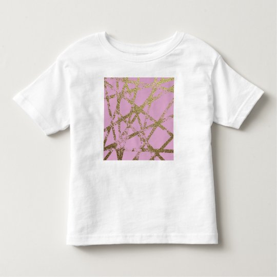 Modern,abstract,hand painted, gold lines, pink,dec toddler t-shirt