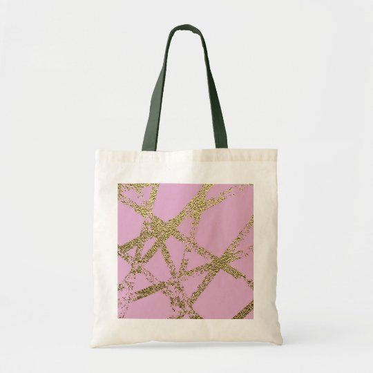 Modern,abstract,hand painted, gold lines, pink,dec tote bag