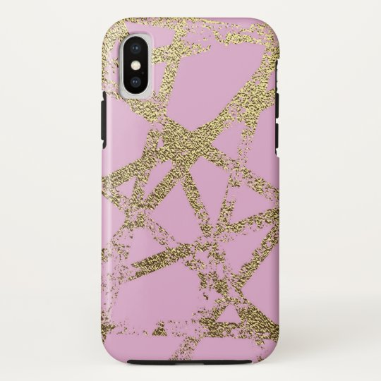 Modern,abstract,hand painted, gold lines pink HTC vivid / raider 4G case