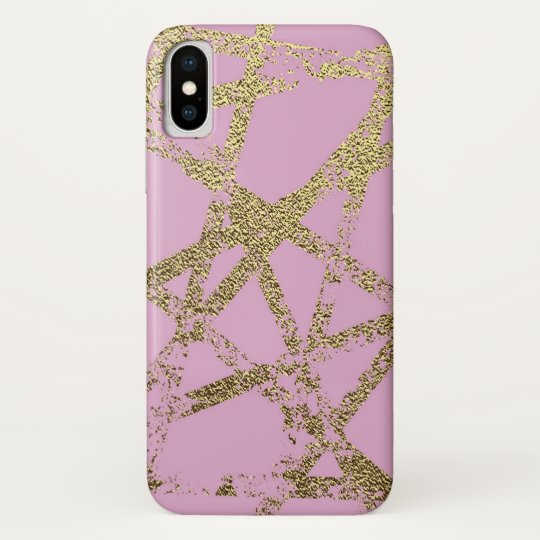 Modern,abstract,hand painted, gold lines pink samsung galaxy nexus cover