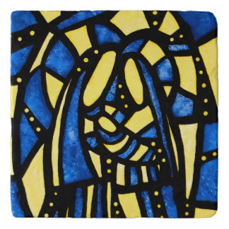 Modern Abstract Holy Family Trivet