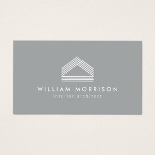 Home renovation business cards business card printing zazzle ca modern abstract home logo grey business card colourmoves
