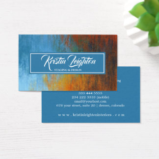 Modern Abstract Home Staging Interior Design Business Card