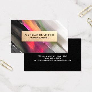 Modern Abstract Interior Designer Business Cards