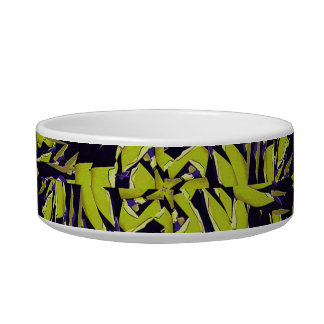 Modern Abstract Interlace Cat Food Bowl