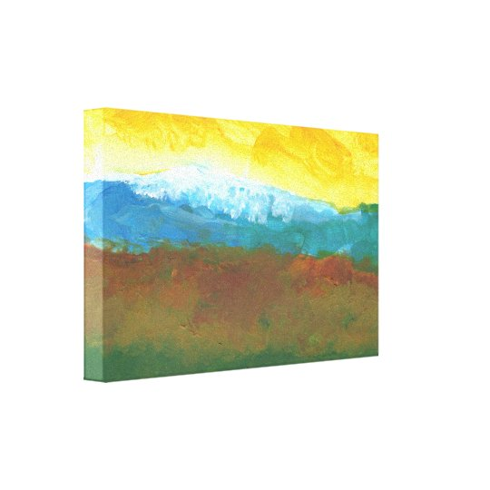 Modern Abstract Landcape Painting Canvas Print