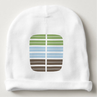 Modern Abstract Landscape Baby Beanie