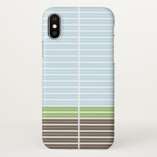 Modern Abstract Landscape iPhone X Case