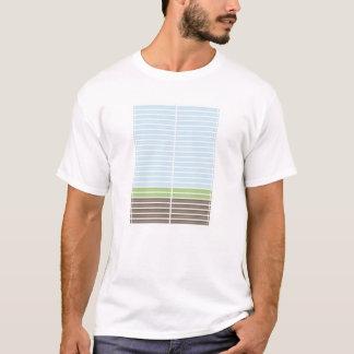 Modern Abstract Landscape Tee Shirt Men's