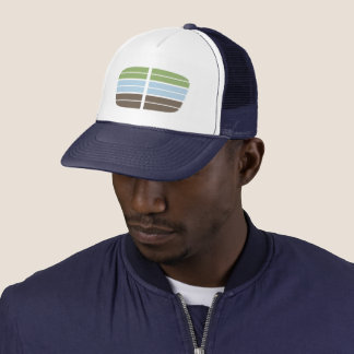 Modern Abstract Landscape Trucker Cap