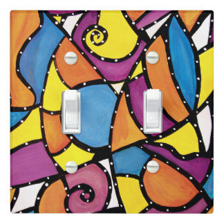 Modern Abstract Light Switch Cover