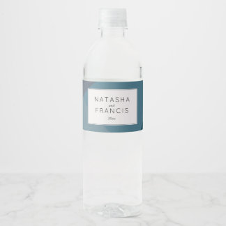 Modern, Abstract Modern Romantic Color Block Water Bottle Label