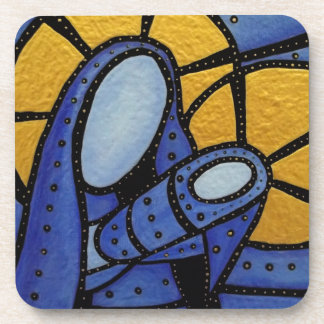 Modern Abstract Mother And Child Coaster