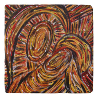 Modern Abstract Mother And Child Trivet