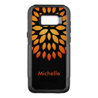 Modern Abstract Name Drop OtterBox Commuter Samsung Galaxy S8+ Case
