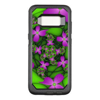Modern Abstract Neon Pink Green Fractal Flowers OtterBox Commuter Samsung Galaxy S8 Case