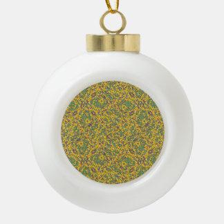 Modern Abstract Ornate Pattern Ceramic Ball Christmas Ornament