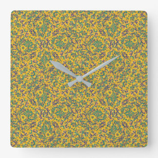 Modern Abstract Ornate Pattern Square Wall Clock