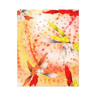Modern Abstract Paint Splash Geometric Shapes Canvas Print