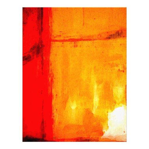 Modern Abstract Painting Custom Letterhead