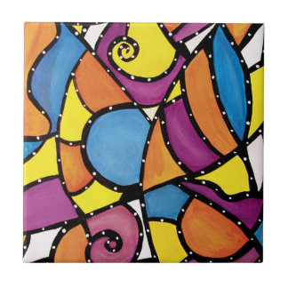 Modern Abstract Painting Tile